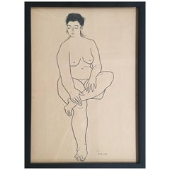 Nude Drawing #2 by Jerry O'day Alias Geraldine Heib
