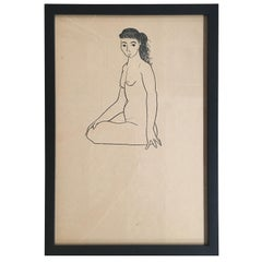 Nude Drawing #5 by Jerry O'Day alias Geraldine Heib