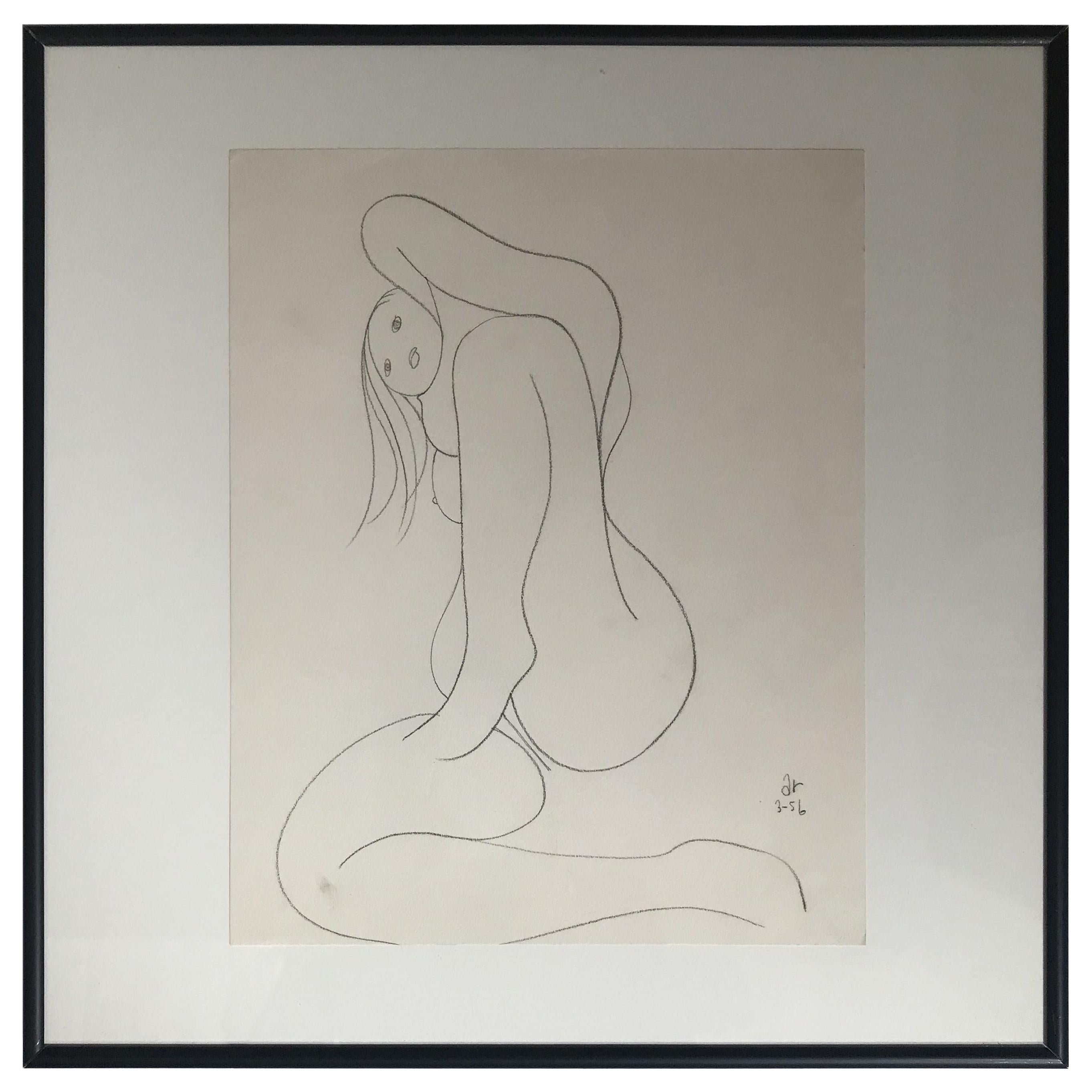Nude Drawing by Albert Radockzy #4