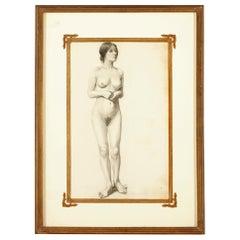 'Nude Female Figure' by Elliott Daingerfield, Graphite on Paper