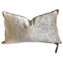 Nude French Velvet Lumbar Pillow