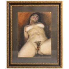Nude Painting by Gerhard E. Wachtl Attributed, 1960s, Vienna