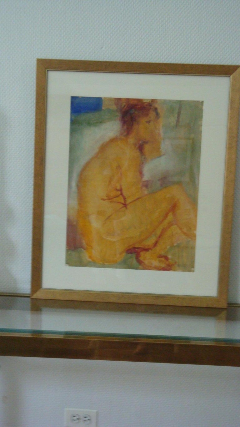 Painted Nude Painting by Italo Botti For Sale