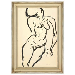 Nude Painting, circa 1959, Black and White