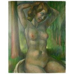 Nude Posing Painting