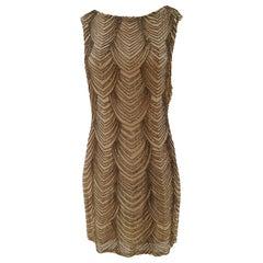 Nude silk tone with beads Dress