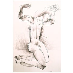 """""""Nude with Upraised Arms"""" von Robert Lamb, 1953"""