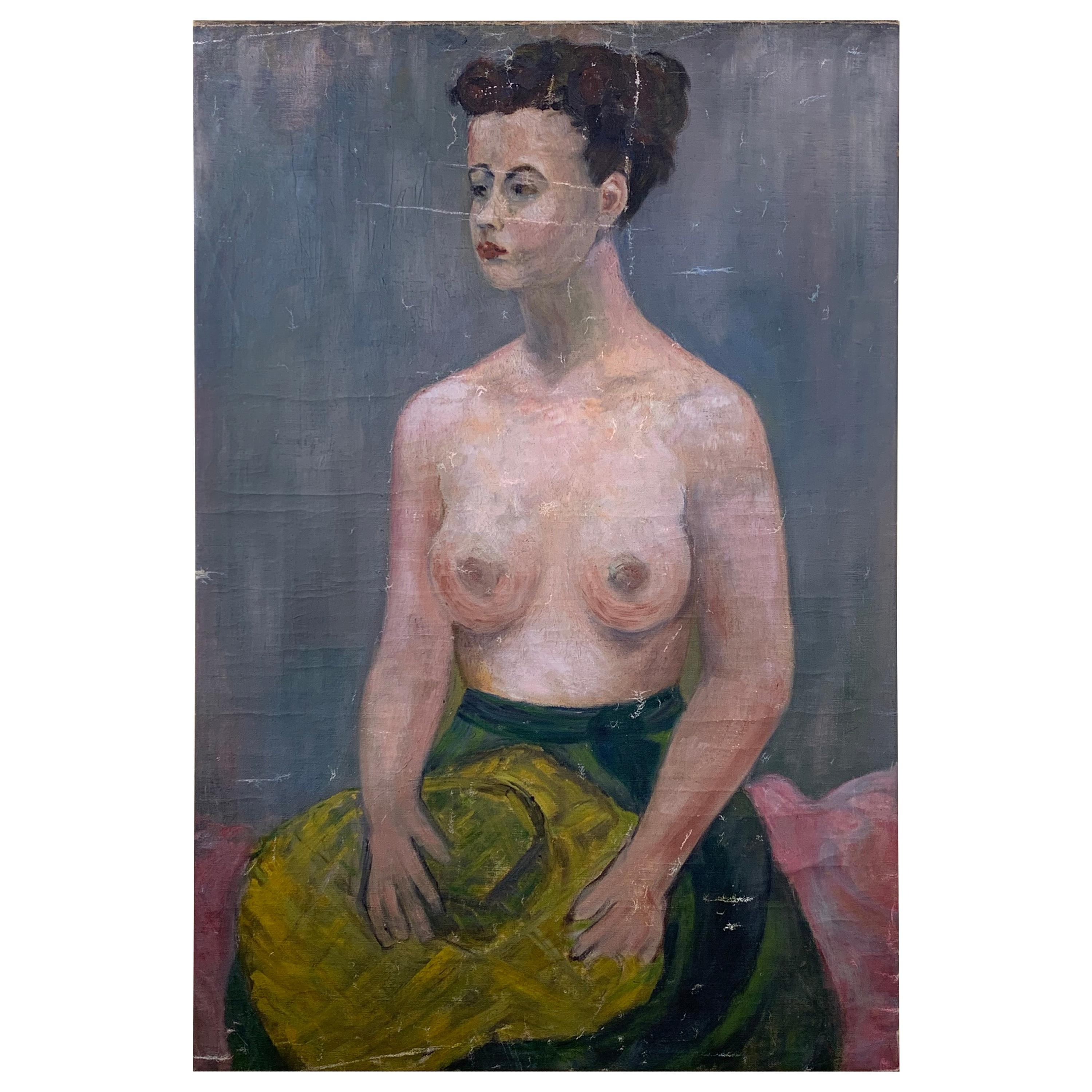 Nude Woman Abstract Oil Painting