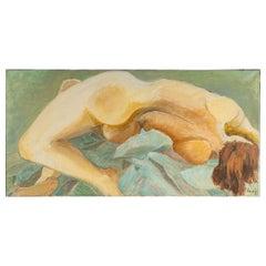 Nude Woman Lying Back, 20th Century
