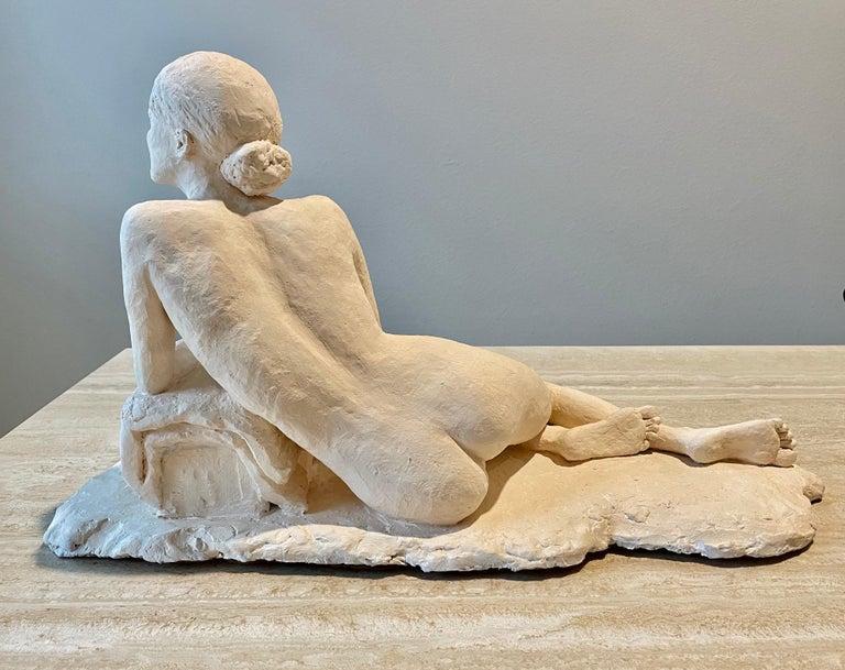 Nude Woman Plaster Sculpture For Sale 4