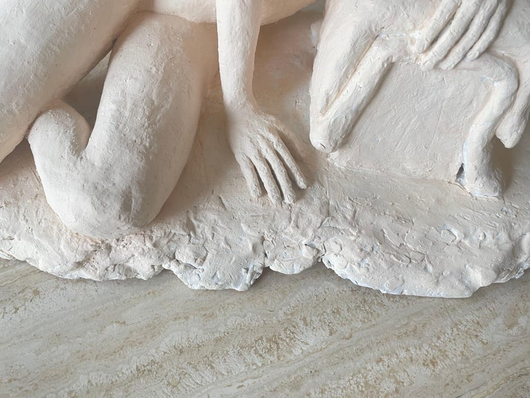 20th Century Nude Woman Plaster Sculpture For Sale