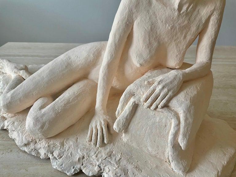 Nude Woman Plaster Sculpture For Sale 2