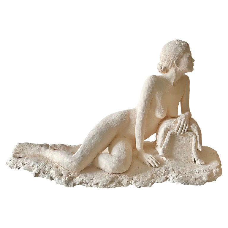 Nude Woman Plaster Sculpture For Sale