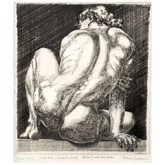 """Nudo #2,"" Rare, Acclaimed Print with Male Nude by Paul Cadmus, Rare Dedication"
