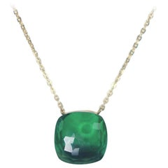 Nudo Pendant Green Quartz in 18 Karat Rose Gold Chain