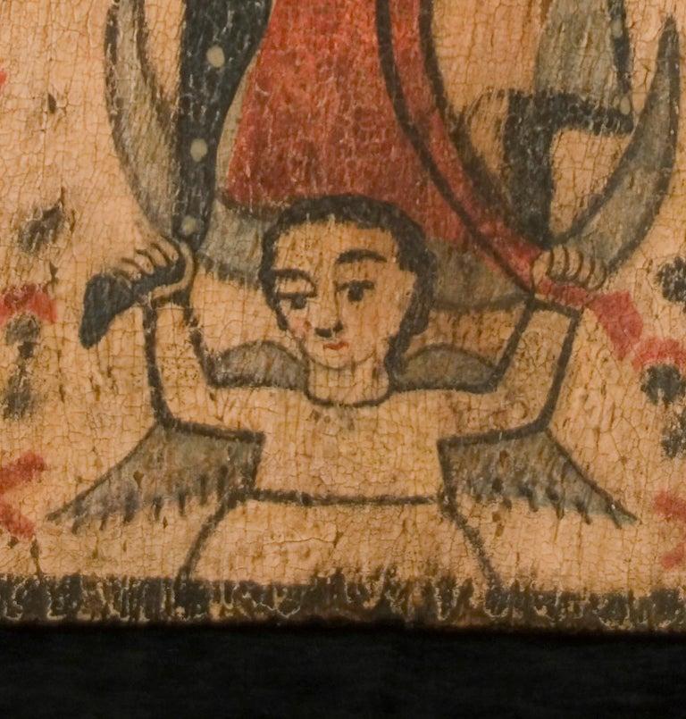 Folk Art Nuestra Señora de Guadalupe For Sale
