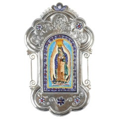 Nuestra Señora Del Guadalupe Ceramic and Alpaca