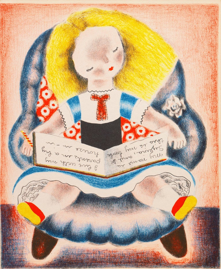 'Sylvia', Woman Artist, Art Student's League, Salon D'Automne, Art Deco, Paris - Print by Nura Ulreich