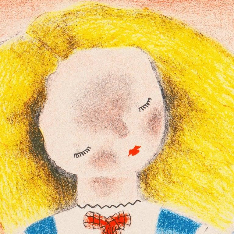 'Sylvia', Woman Artist, Art Student's League, Salon D'Automne, Art Deco, Paris - Beige Figurative Print by Nura Ulreich