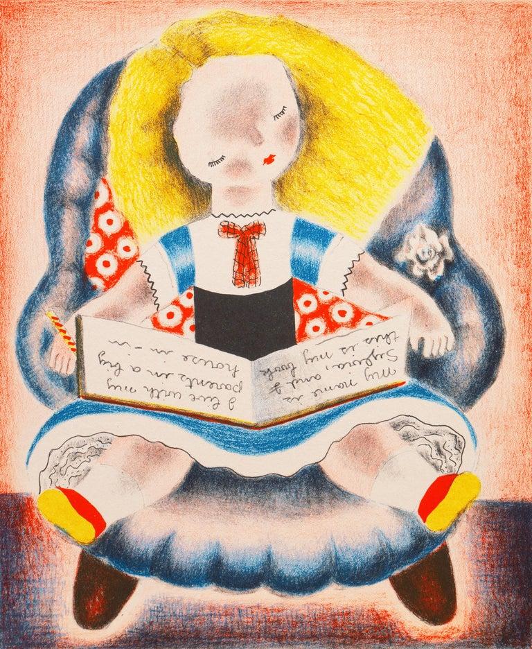 Nura Ulreich Figurative Print - 'Sylvia', Woman Artist, Art Student's League, Salon D'Automne, Art Deco, Paris