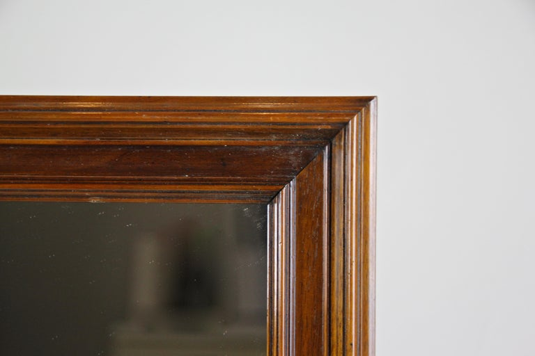 Nutwood Mirror Late Biedermeier Period, Austria, circa 1860 In Good Condition For Sale In Linz , AT