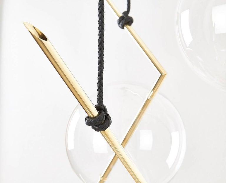 Italian Nuvola Three Lights Sculptural Minimalist Chandelier / Pendant  For Sale