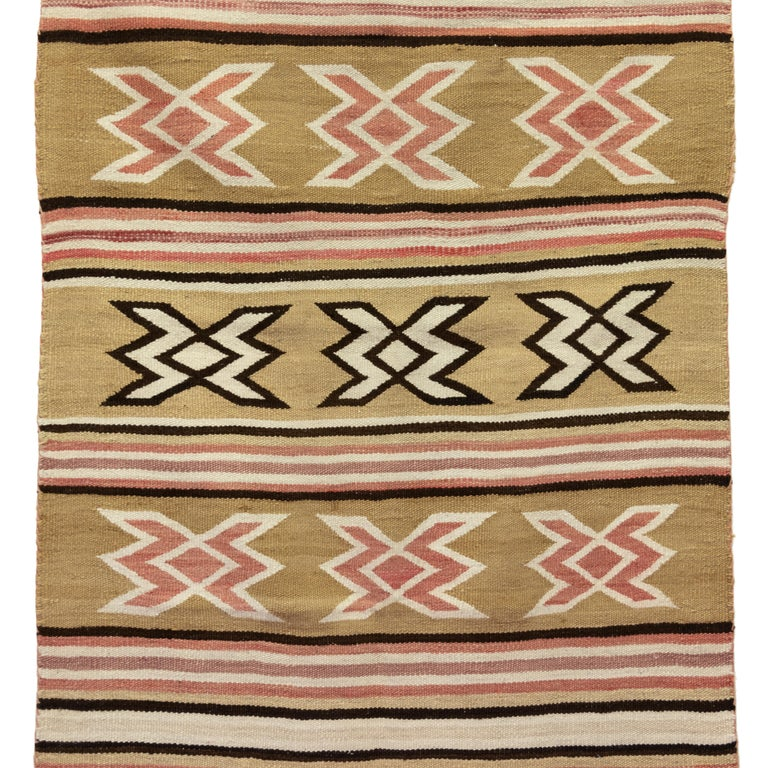 Native American Navajo Crystal Area Weaving For Sale
