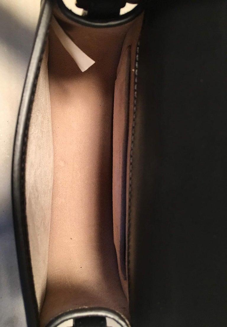 NWOT Chloe Nile Small Black Leather Bracelet Bag For Sale 6