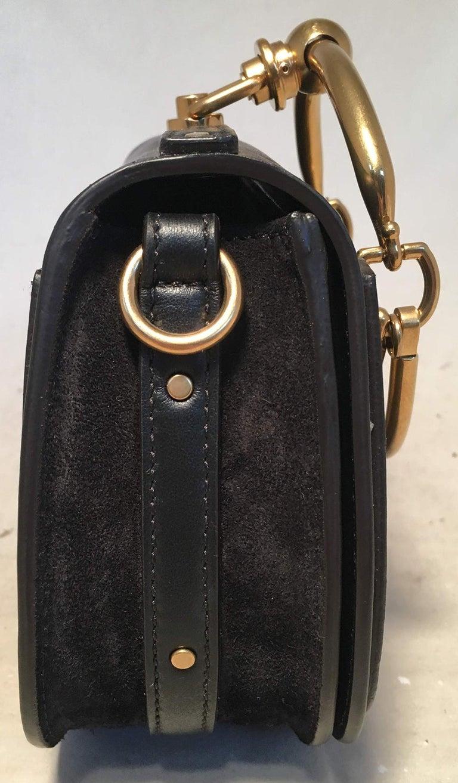 Women's NWOT Chloe Nile Small Black Leather Bracelet Bag For Sale