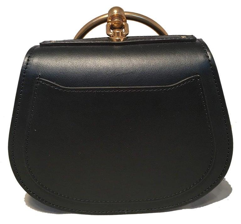 NWOT Chloe Nile Small Black Leather Bracelet Bag For Sale 1