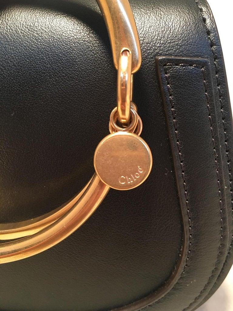 NWOT Chloe Nile Small Black Leather Bracelet Bag For Sale 4