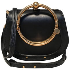 NWOT Chloe Nile Small Black Leather Bracelet Bag