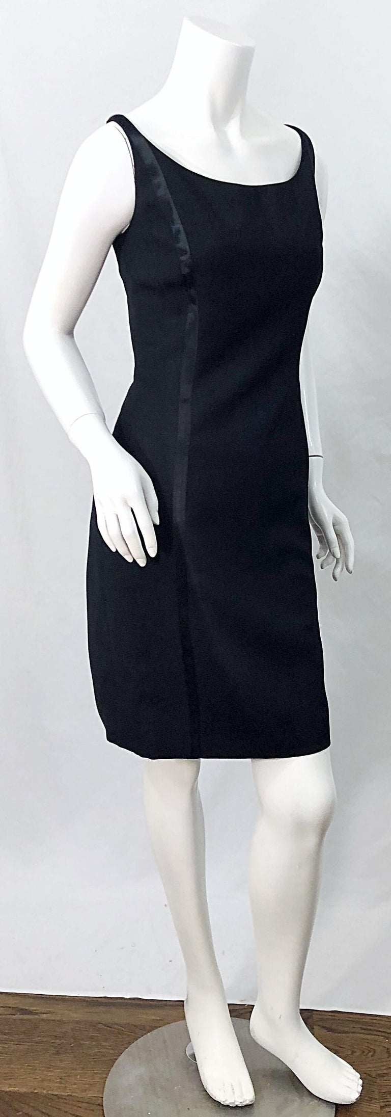 NWT 1990s Claude Montana Size 6 Vintage 90s Sleeveless Little Black Dress  For Sale 8