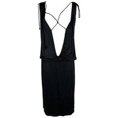 NWT 1990's Maison Martin Margiela Plunging Open Chest Slinky Dress
