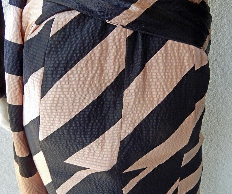 NWT Juan Carlos Obando Cool Cut-Out Wrap Silk Dress mugler For Sale 1