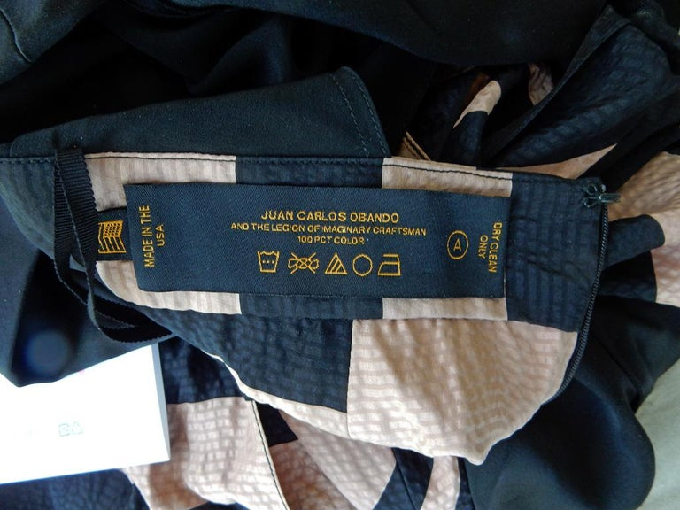 NWT Juan Carlos Obando Cool Cut-Out Wrap Silk Dress mugler For Sale 2