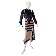 NWT Juan Carlos Obando Cool Cut-Out Wrap Silk Dress