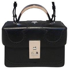 NWT The Volon Black Leather Alice Crossbody Box Shoulder Bag