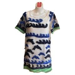 NWT Tsumori Chisato Wave and Dolphin Dress (2)