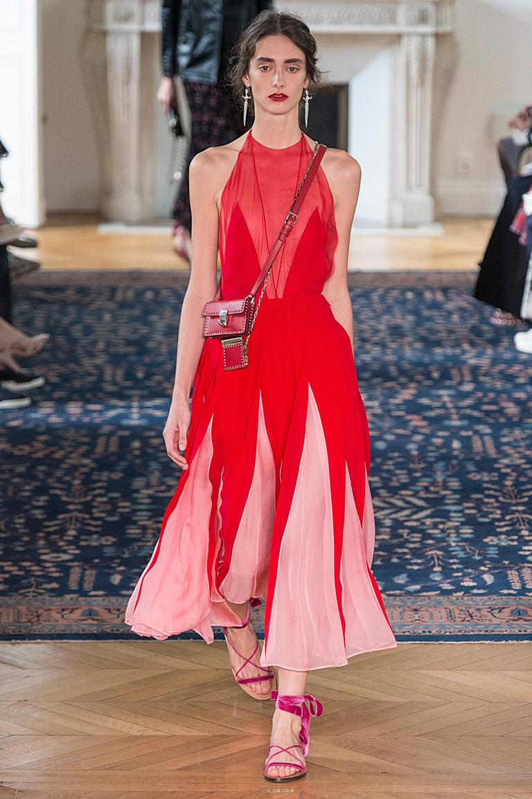Women's NWT Valentino Runway Red & Pink Evening Dress  For Sale