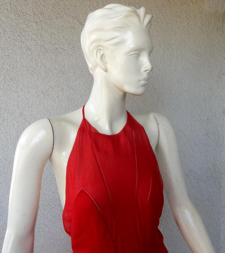 NWT Valentino Runway Red & Pink Evening Dress  For Sale 1