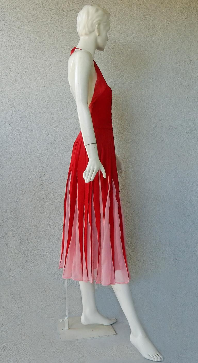 NWT Valentino Runway Red & Pink Evening Dress  For Sale 2