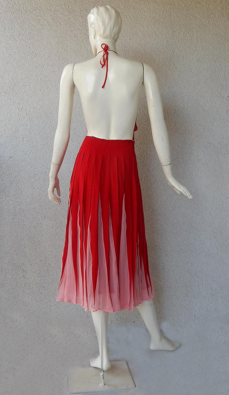 NWT Valentino Runway Red & Pink Evening Dress  For Sale 3