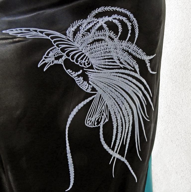 NWT Vionnet  Deco Inspired Embroidered Dress Gown For Sale 1