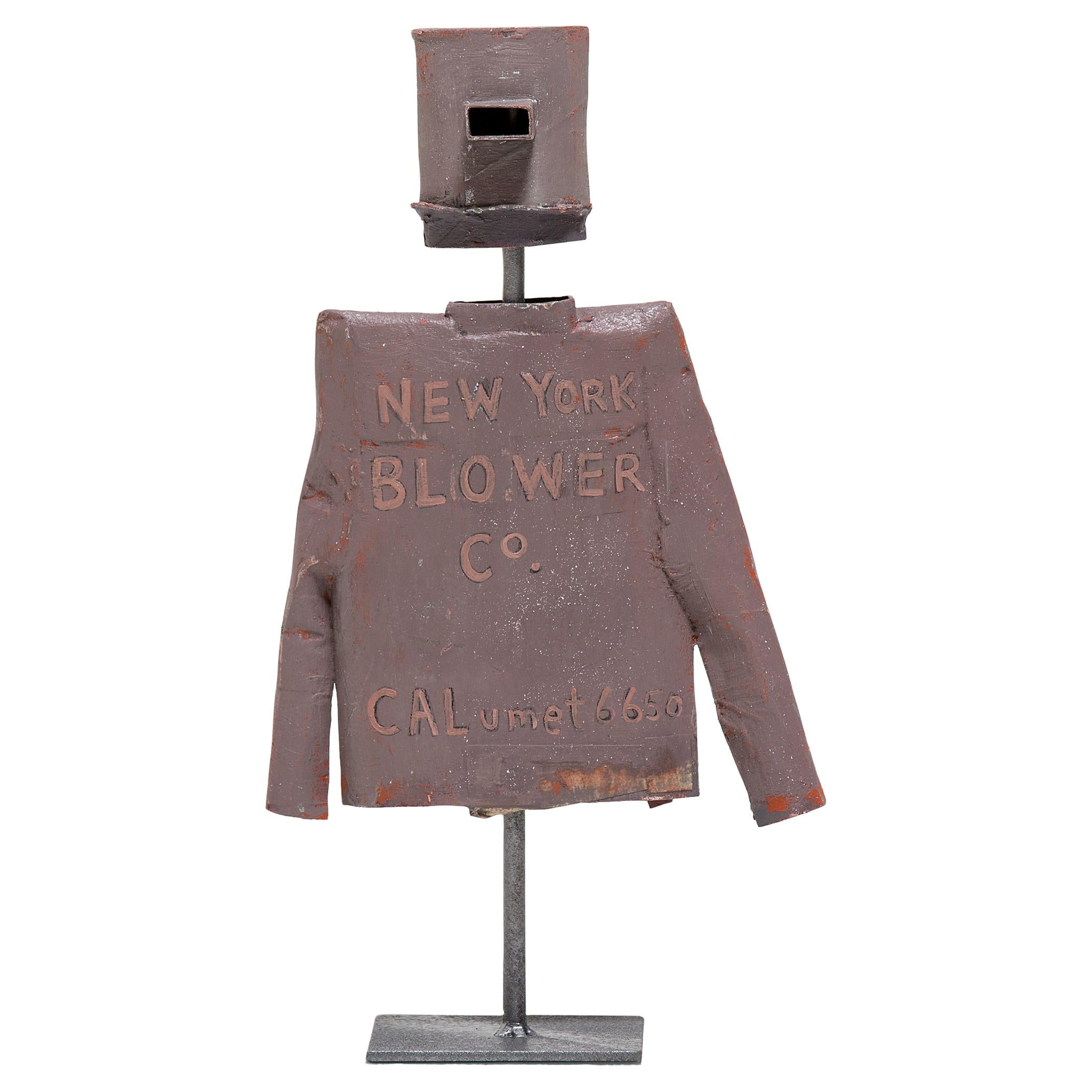 """""""NY Blower"""" Helmet and Jacket Sculpture by Patrick Fitzgerald"""
