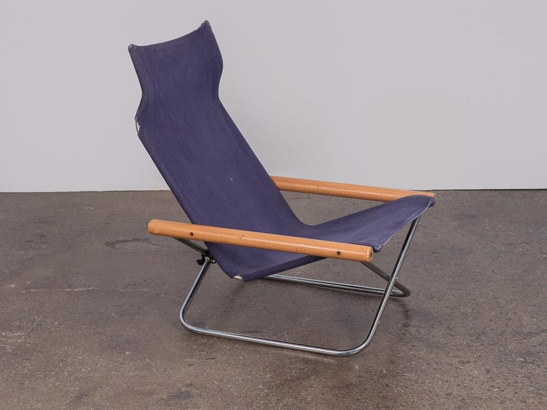 NY folding sling chair by Takeshi Nii. Originally from 1958 and named
