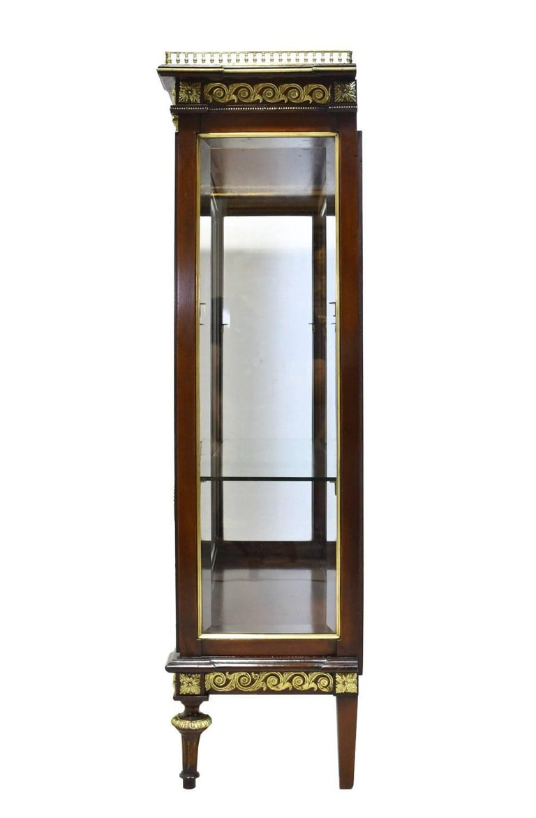 Late 19th Century NYC Gilded Age Louis XVI Style Display Cabinet, Attributable to Leon Marcotte For Sale