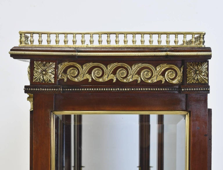 NYC Gilded Age Louis XVI Style Display Cabinet, Attributable to Leon Marcotte For Sale 3