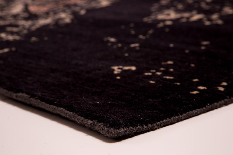 Modern NYC, Hand Knotted Area Rug from New Zealand Wool, by Thirty Six Knots For Sale