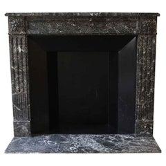 NYC Waldorf Astoria Hotel 1880s Louis XVI Dark Gray Marble French Regency Mantel
